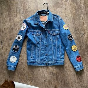 Levi Denim Jacket with patches